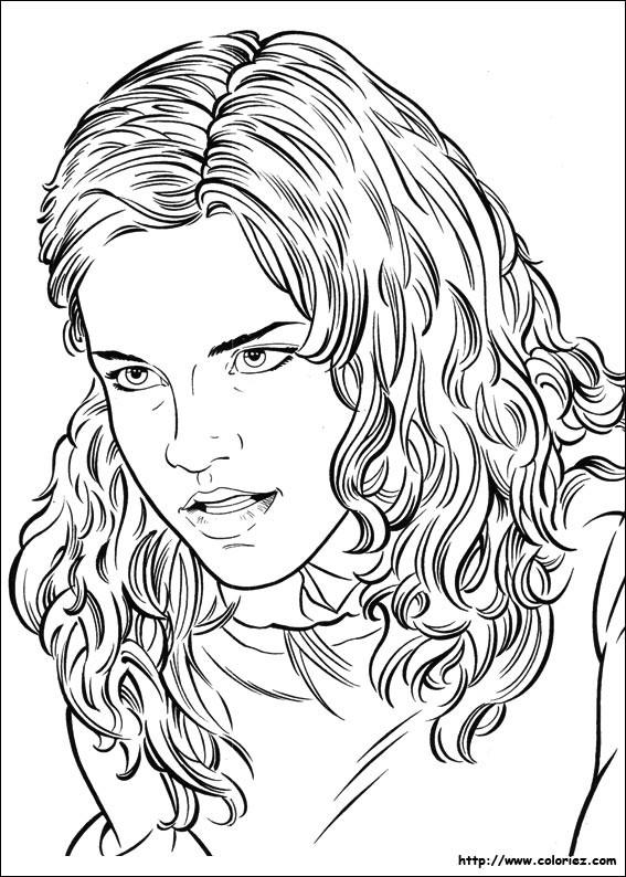 Coloriage Portrait Actrice Harry Potter Dessin Gratuit A Imprimer