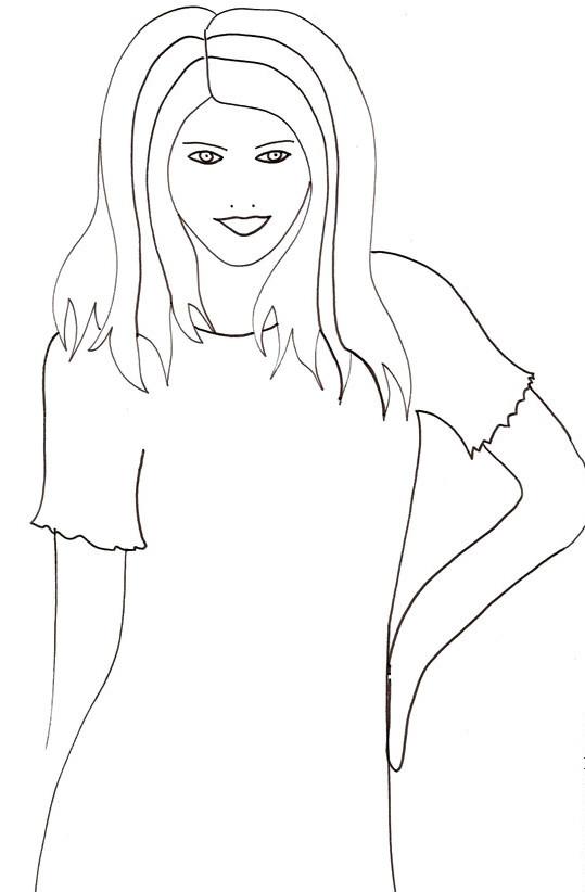 Coloriage et dessins gratuits Portrait actrice simple à imprimer