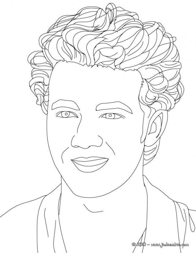 Coloriage et dessins gratuits Portrait au crayon à imprimer