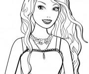 Coloriage Portrait Barbie