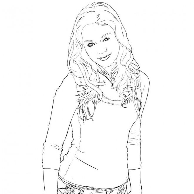 Coloriage et dessins gratuits Portrait Célébrité en ligne à imprimer