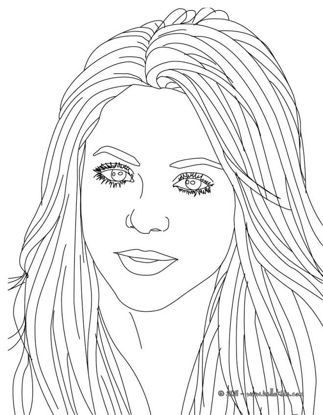 Coloriage et dessins gratuits Portrait Célébrités à imprimer