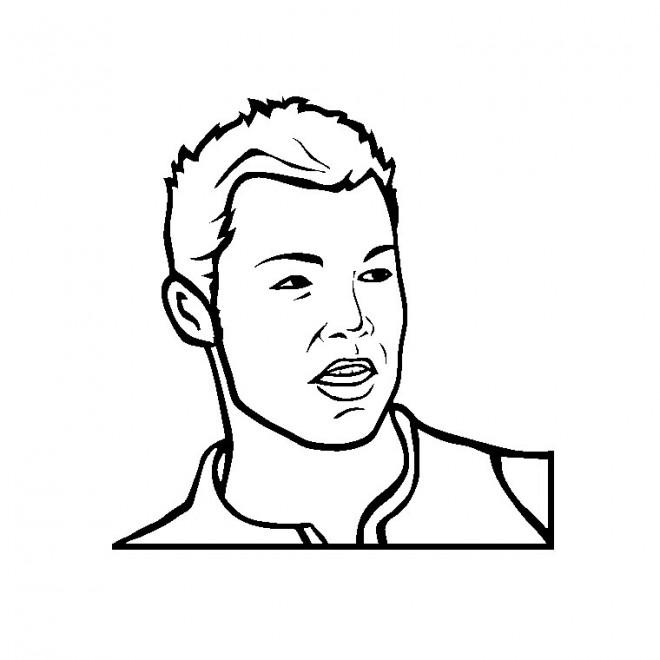 Coloriage et dessins gratuits Portrait Cristiano Ronaldo à imprimer