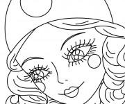 Coloriage Portrait d'une belle  fille