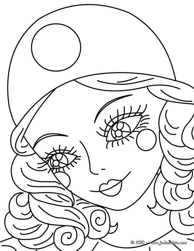 Coloriage et dessins gratuits Portrait d'une belle  fille à imprimer