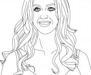 Coloriage et dessins gratuit Portrait d'une  Chanteuse à imprimer