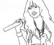 Coloriage Portrait d'une Chanteuse à télécharger