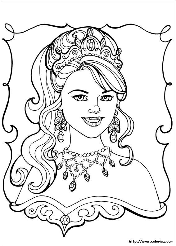 Coloriage et dessins gratuits Portrait d'une Princesse à découper à imprimer