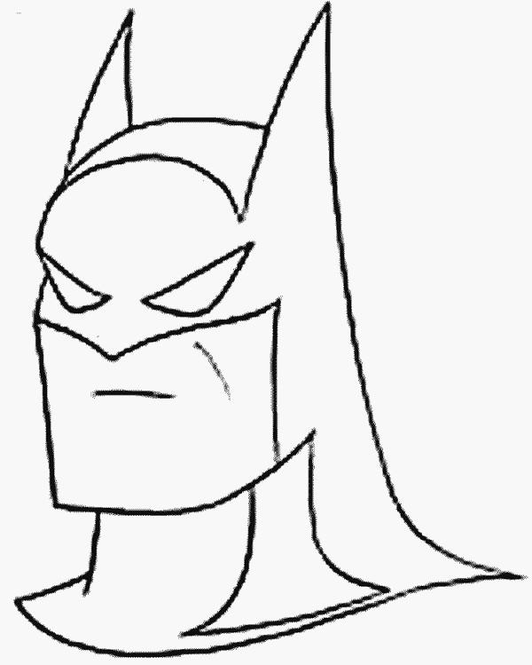 Coloriage et dessins gratuits Portrait de Batman à imprimer