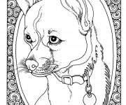 Coloriage et dessins gratuit Portrait de Chien à imprimer