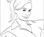 Coloriage Portrait de Femme facile