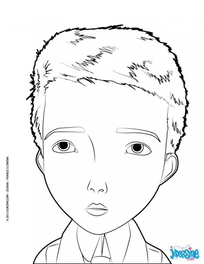 Coloriage et dessins gratuits Portrait de Garçon vecteur à imprimer