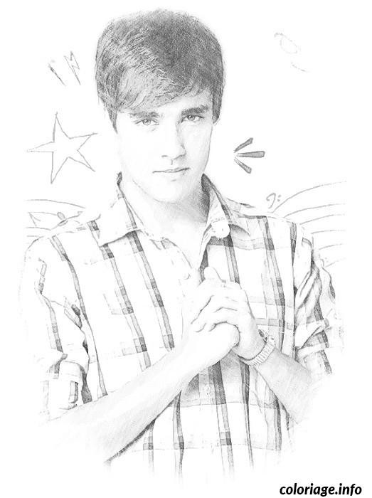 Coloriage et dessins gratuits Portrait de Léon pour Les Adolescents à imprimer