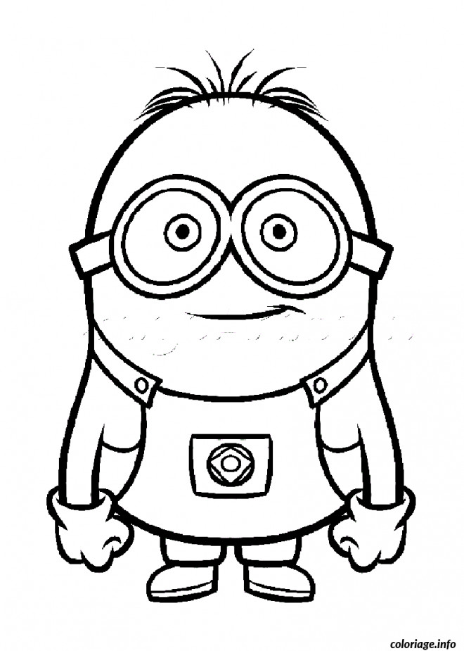 Coloriage et dessins gratuits Portrait de Minion à imprimer
