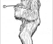 Coloriage Portrait de Personnage de Star Wars