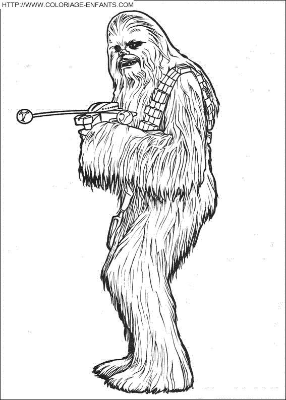 Coloriage et dessins gratuits Portrait de Personnage de Star Wars à imprimer