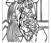 Coloriage Portrait de Picasso