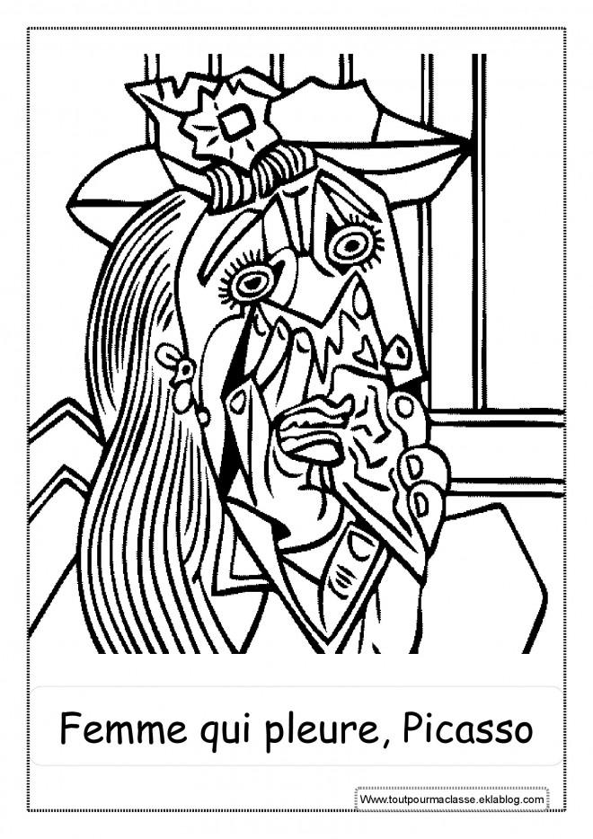 Coloriage et dessins gratuits Portrait de Picasso à imprimer