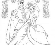 Coloriage Portrait de Prince et de Princesse