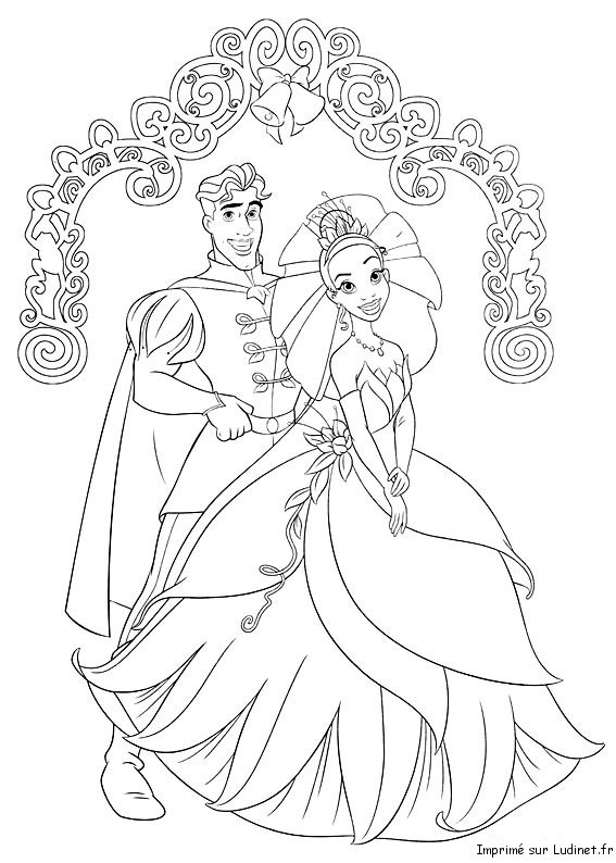 Coloriage et dessins gratuits Portrait de Prince et de Princesse à imprimer