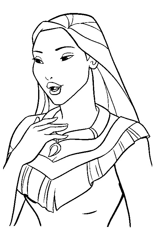 Coloriage et dessins gratuits Portrait de Princesse à colorier à imprimer