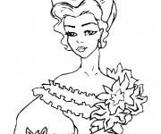 Coloriage Portrait de Princesse maternelle