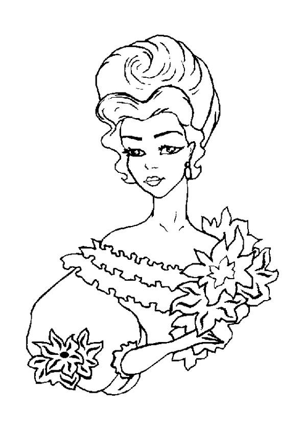 Coloriage et dessins gratuits Portrait de Princesse maternelle à imprimer