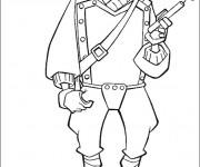 Coloriage Portrait de Soldat Disney