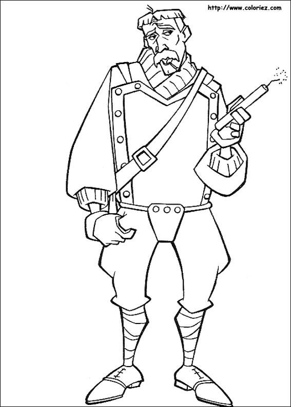 Coloriage et dessins gratuits Portrait de Soldat Disney à imprimer