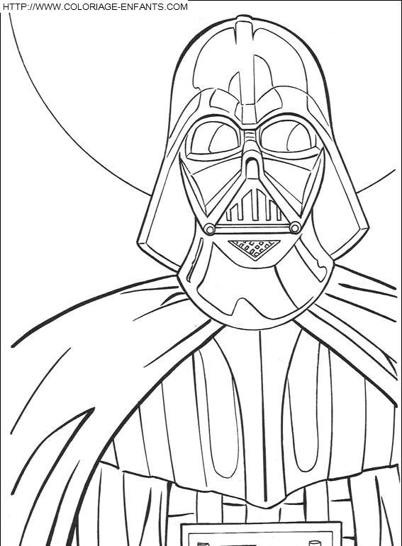 Coloriage et dessins gratuits Portrait de Star Wars à imprimer