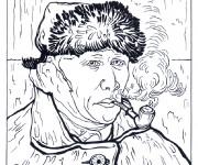 Coloriage Portrait de Van Gogh