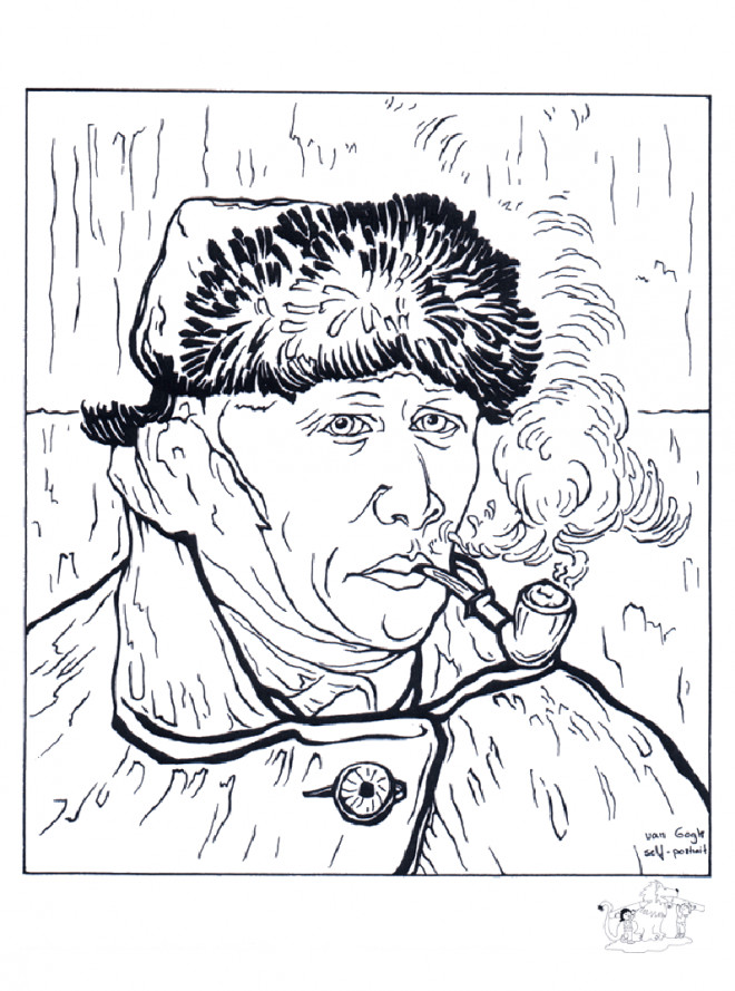 Coloriage et dessins gratuits Portrait de Van Gogh à imprimer