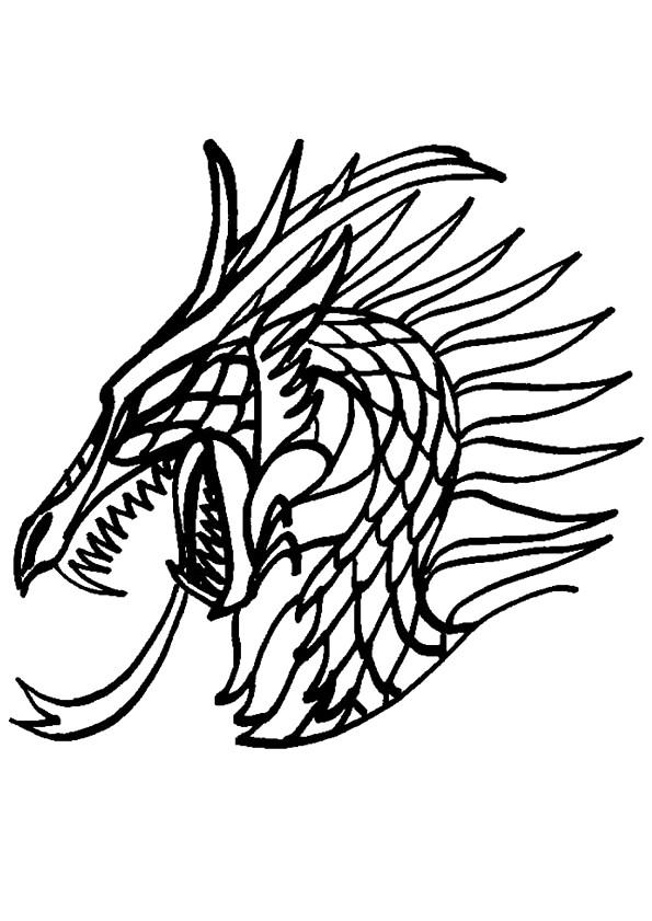 Coloriage et dessins gratuits Portrait Dragon chinois à imprimer