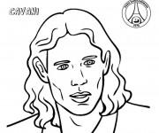 Coloriage Portrait Edinson Cavani