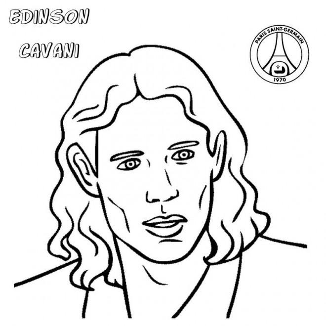 Coloriage et dessins gratuits Portrait Edinson Cavani à imprimer