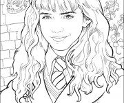 Coloriage et dessins gratuit Portrait Emma Watson à imprimer