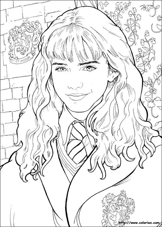Coloriage et dessins gratuits Portrait Emma Watson à imprimer