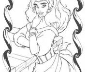 Coloriage Portrait Esmeralda