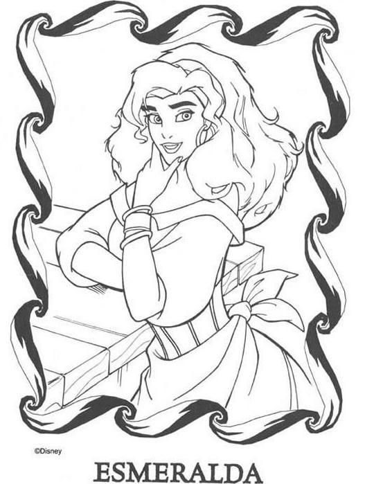 Coloriage et dessins gratuits Portrait Esmeralda à imprimer