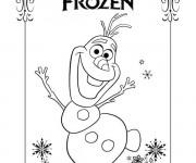 Coloriage Portrait Frozen Disney