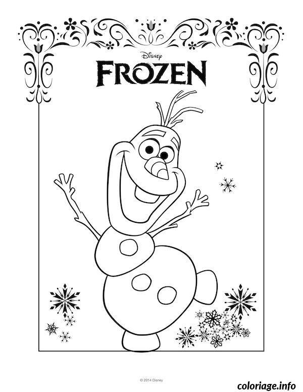 Coloriage et dessins gratuits Portrait Frozen Disney à imprimer