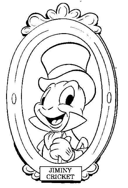Coloriage et dessins gratuits Portrait Jiminy Cricket à imprimer