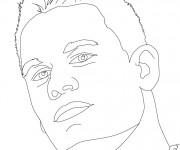 Coloriage Portrait john Cena