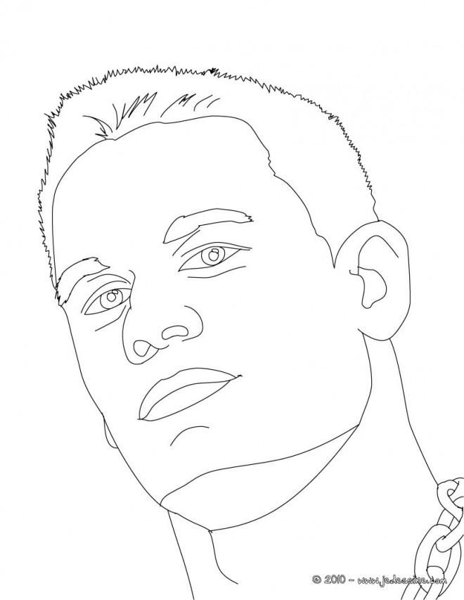 Coloriage et dessins gratuits Portrait john Cena à imprimer