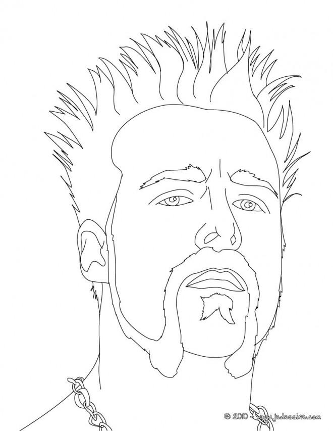 Coloriage et dessins gratuits Portrait Lutteur à imprimer