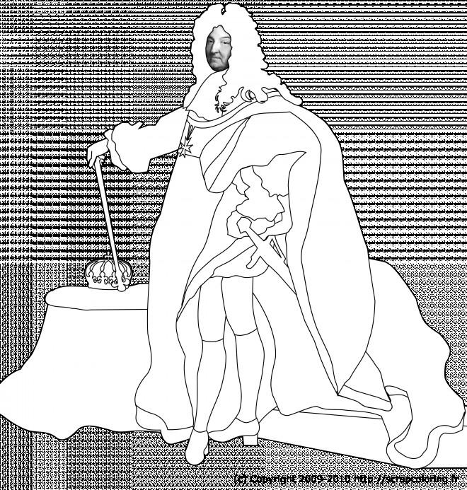 Coloriage et dessins gratuits Portrait Roi Français à imprimer