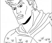 Coloriage Portrait Super héro