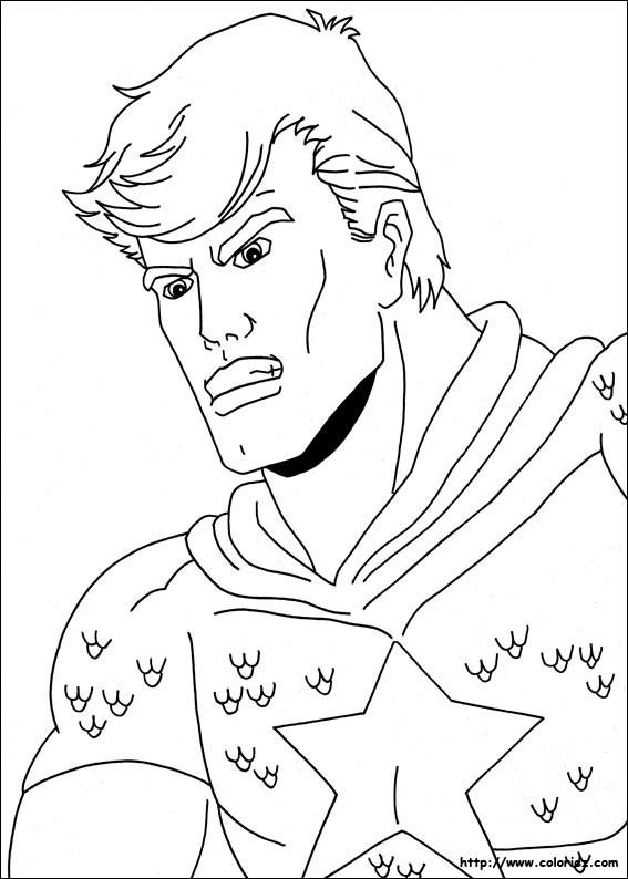 Coloriage et dessins gratuits Portrait Super héro à imprimer