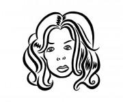 Coloriage Portrait Tête de Femme