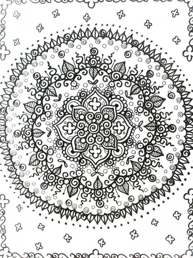 Coloriage et dessins gratuits Psychédélique à décorer à imprimer